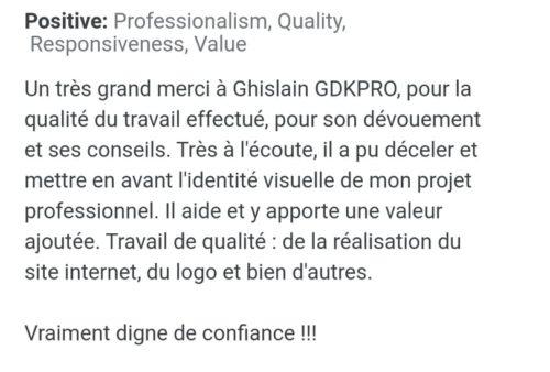 avis google création siteweb gdkpro.com identité visuelle graphisme conseils marketing consultant marketing webdesign